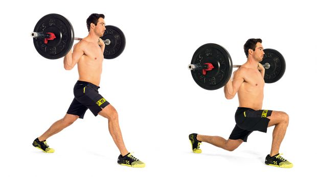 Barbell split squat